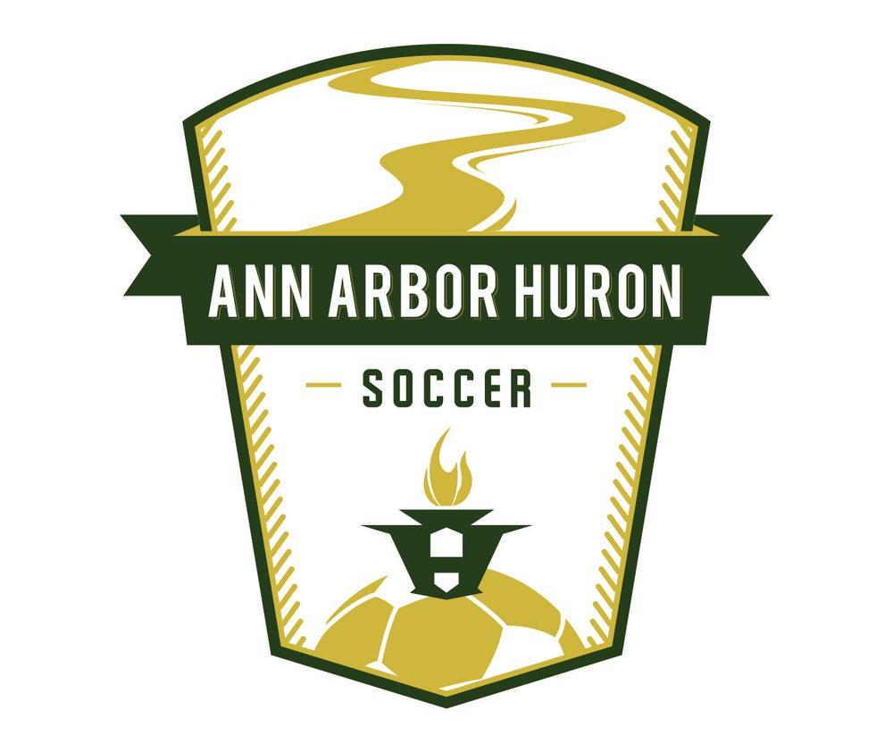 custom soccer logo design for ann arbor soccer by jordan fretz design