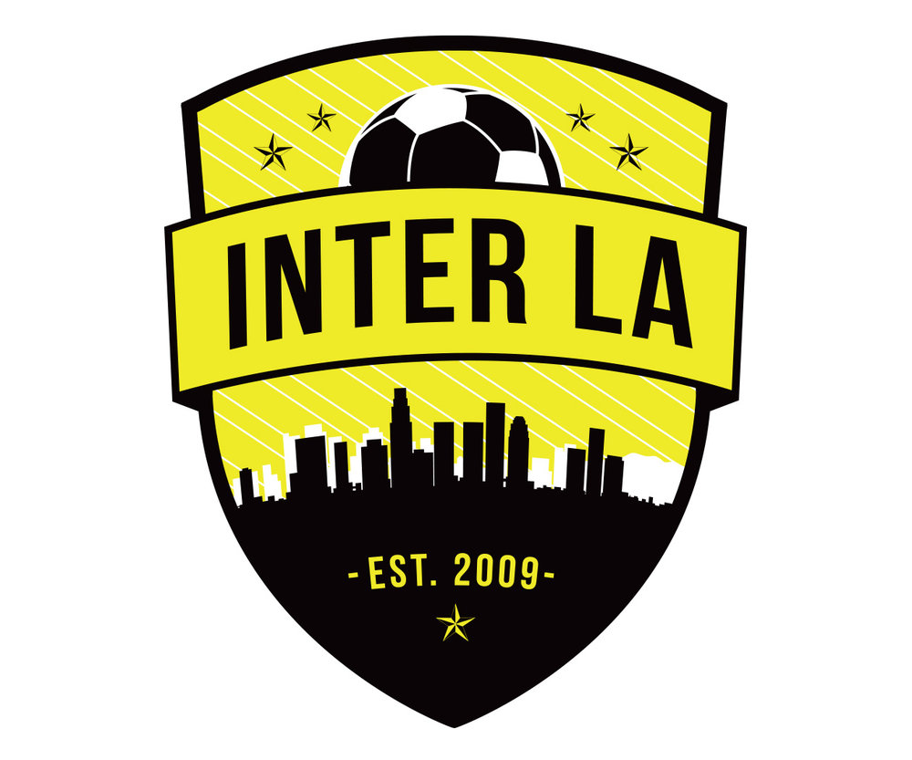 custom soccer logo design for inter la soccer by jordan fretz design