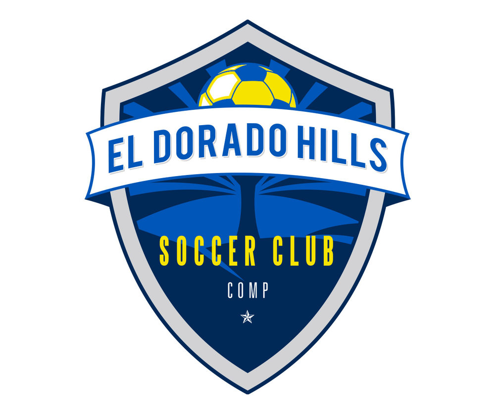 custom soccer logo design for el dorado hills soccer by jordan fretz design