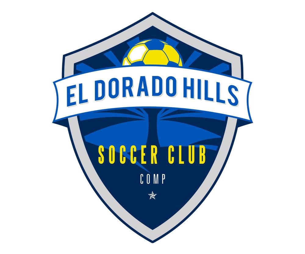 custom soccer logo design for el dorado hills soccer by jordan fretz design
