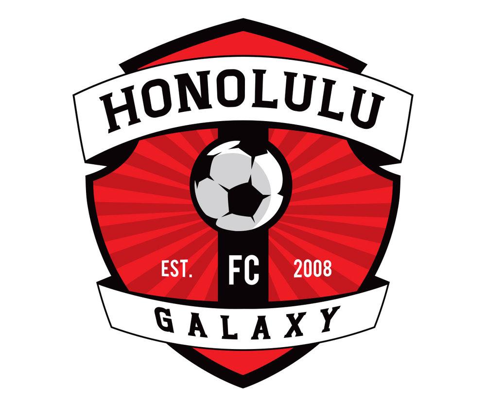 custom soccer logo design for the honolulu galaxy by jordan fretz design
