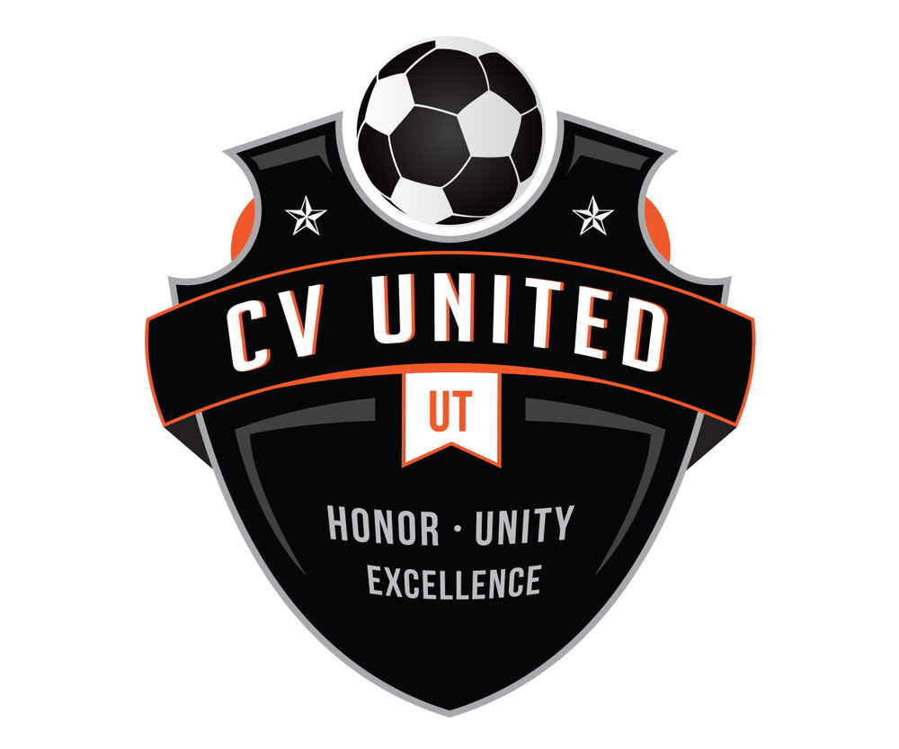 custom soccer logo design for cv united soccer by jordan fretz design