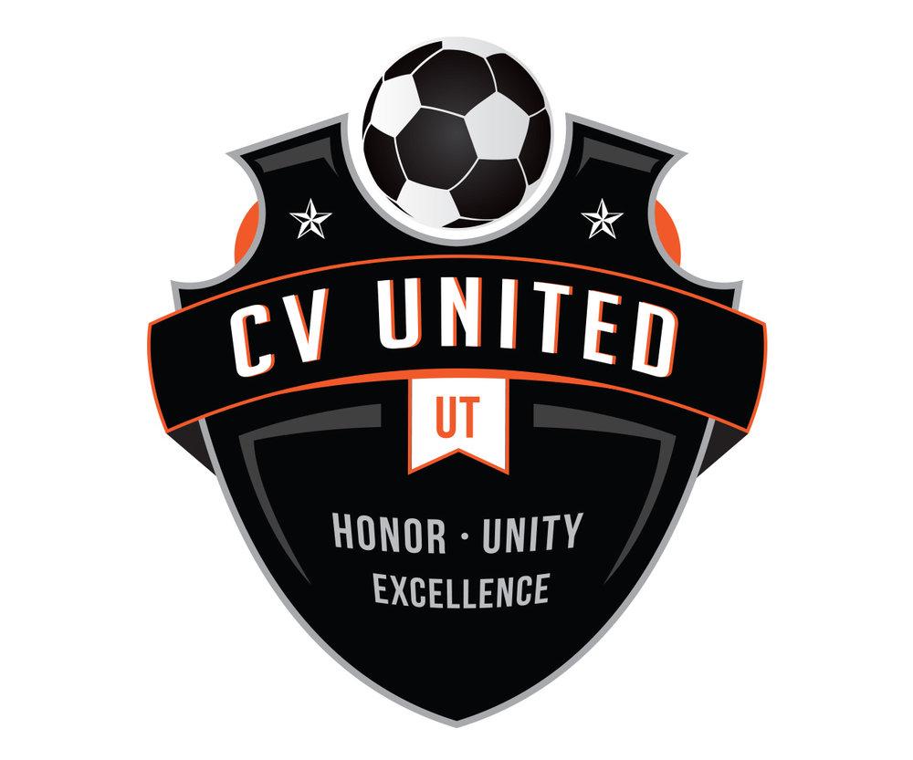custom soccer logo design for cv united soccer by jordan fretz design