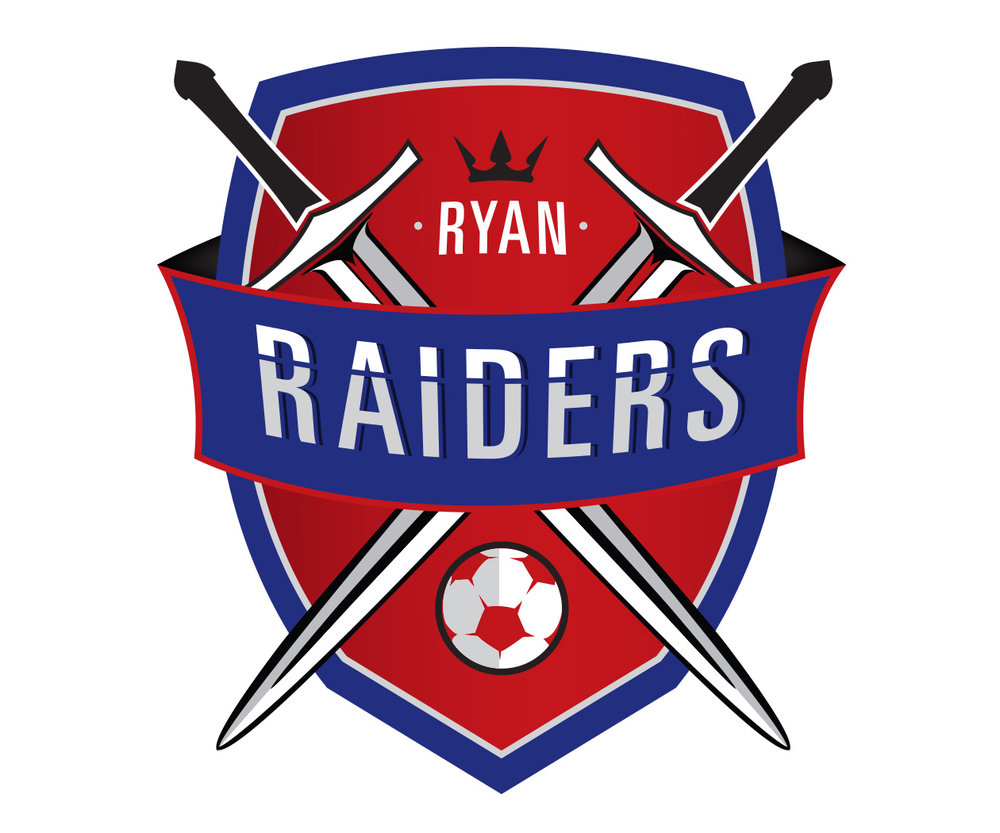custom soccer logo design for raiders soccer by jordan fretz design