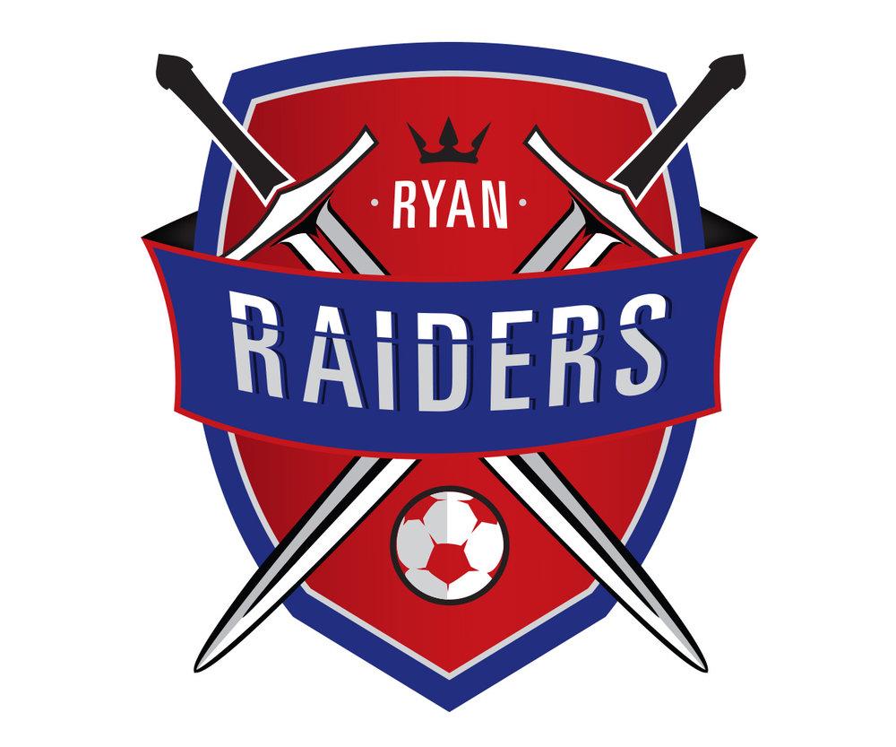custom soccer logo design for raiders soccer by jordan fretz design