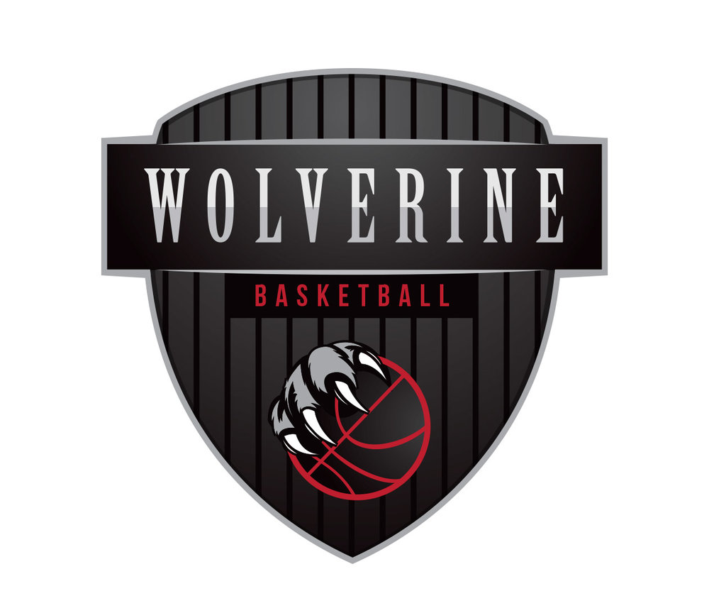 custom basketball logo design for wolverine basketball by jordan fretz design