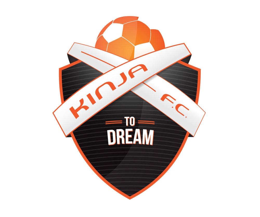 custom soccer logo design for kinja fc soccer by jordan fretz design