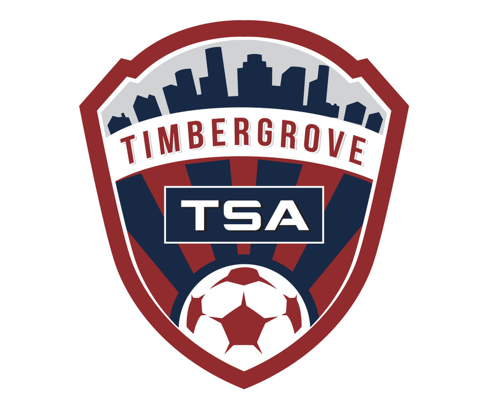 custom soccer logo design for timber grove TSA by jordan fretz design