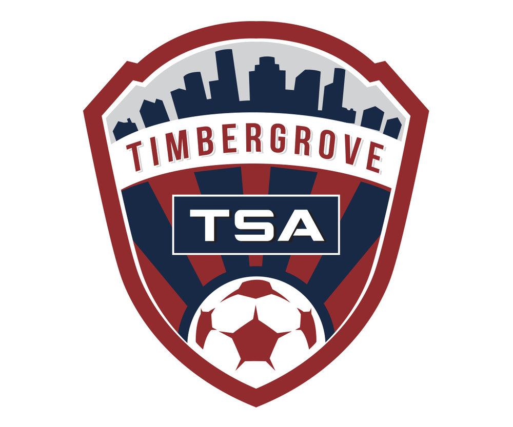 custom soccer logo design for timber grove TSA by jordan fretz design