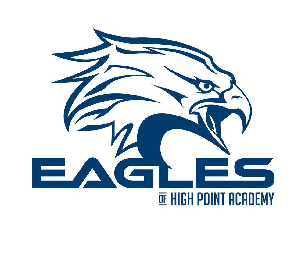 custom sports logo design for the hp eagles by jordan fretz design