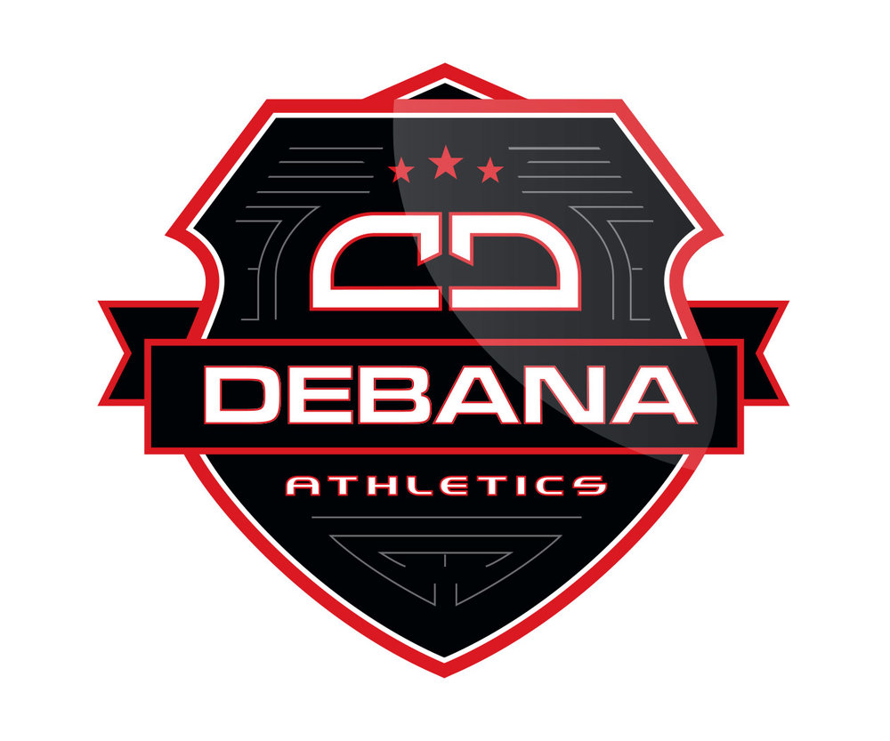 custom martial arts apparel company logo design for debana athletics by jordan fretz design