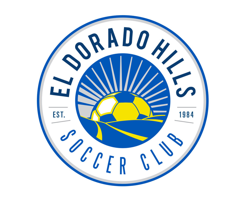custom soccer logo design for el dorado hills soccer club by jordan fretz design