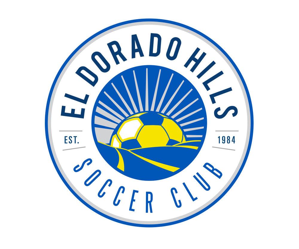 custom soccer logo design for el dorado hills soccer club by jordan fretz design