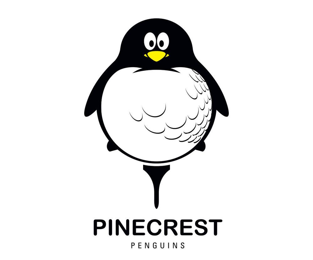 custom country club children's golf team logo design for the pinecrest penguins by jordan fretz design
