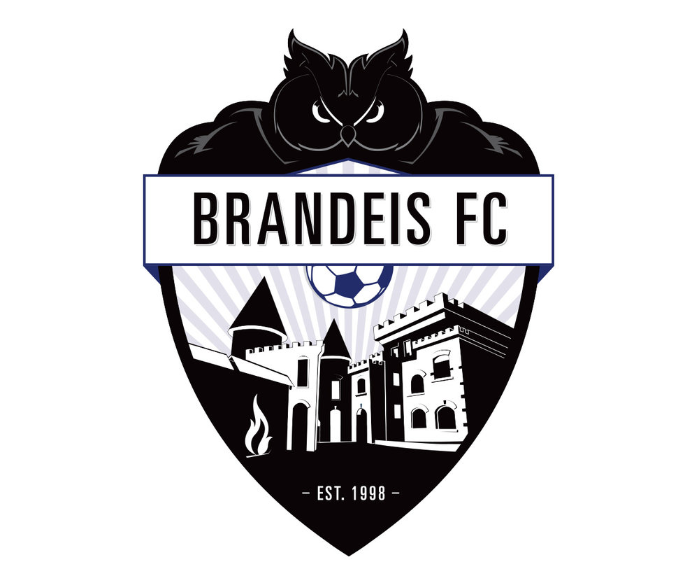 custom soccer logo design for brandeis university soccer by jordan fretz design