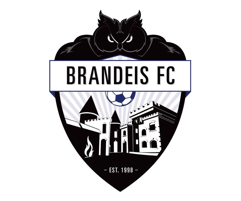 custom soccer logo design for brandeis university soccer by jordan fretz design