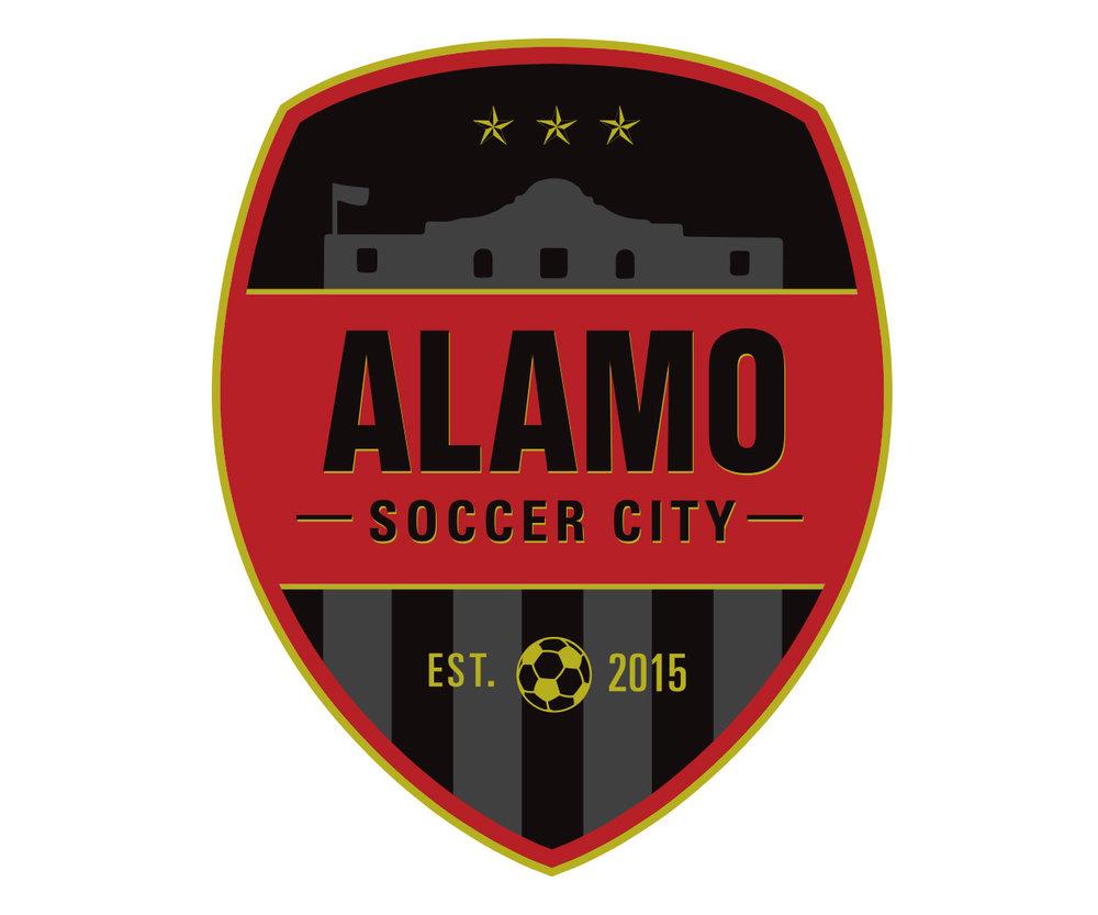 custom soccer logo design for alamo soccer blog by jordan fretz design