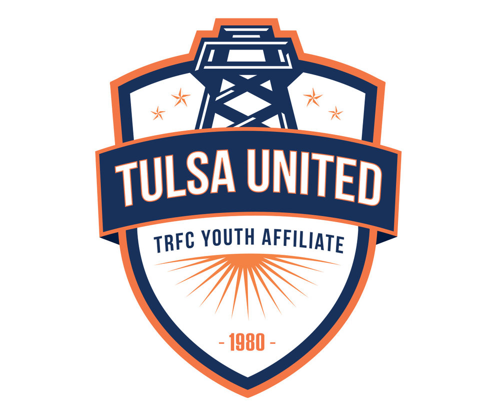 custom soccer logo design for tulsa roughnecks youth affiliate by jordan fretz design