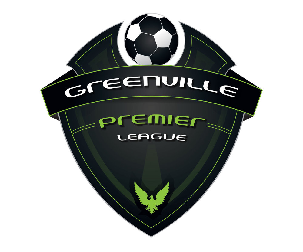 custom soccer logo design for greenville premier league soccer by jordan fretz design