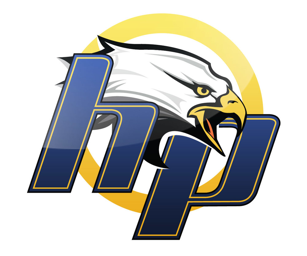 custom basketball court logo design for high point academy by jordan fretz design