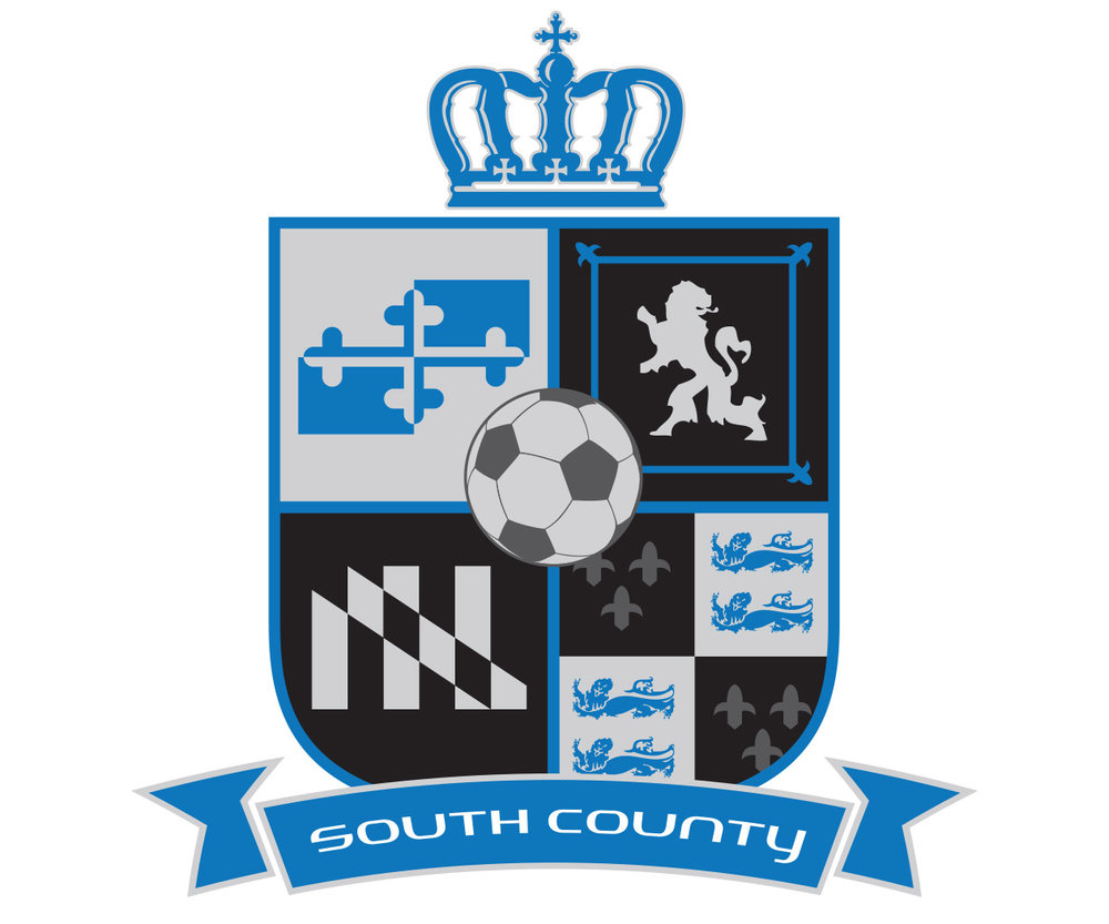 custom soccer logo design for south county soccer by jordan fretz design