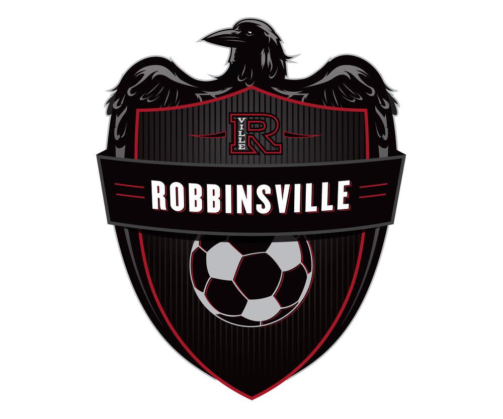 custom soccer logo design for robbinsville soccer by jordan fretz design