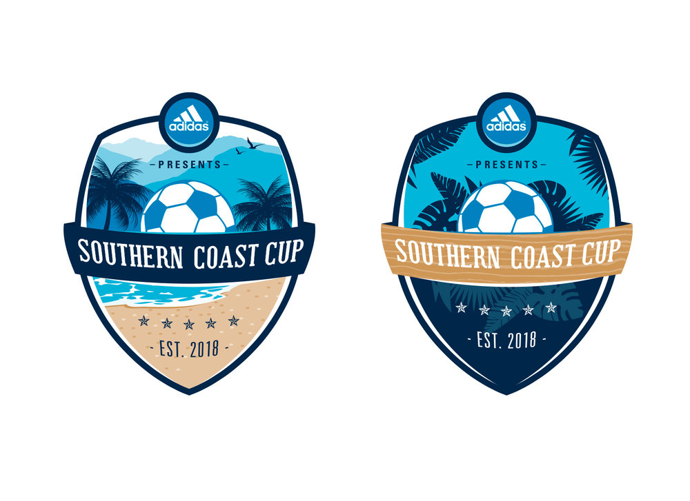 coastal tournament crest design
