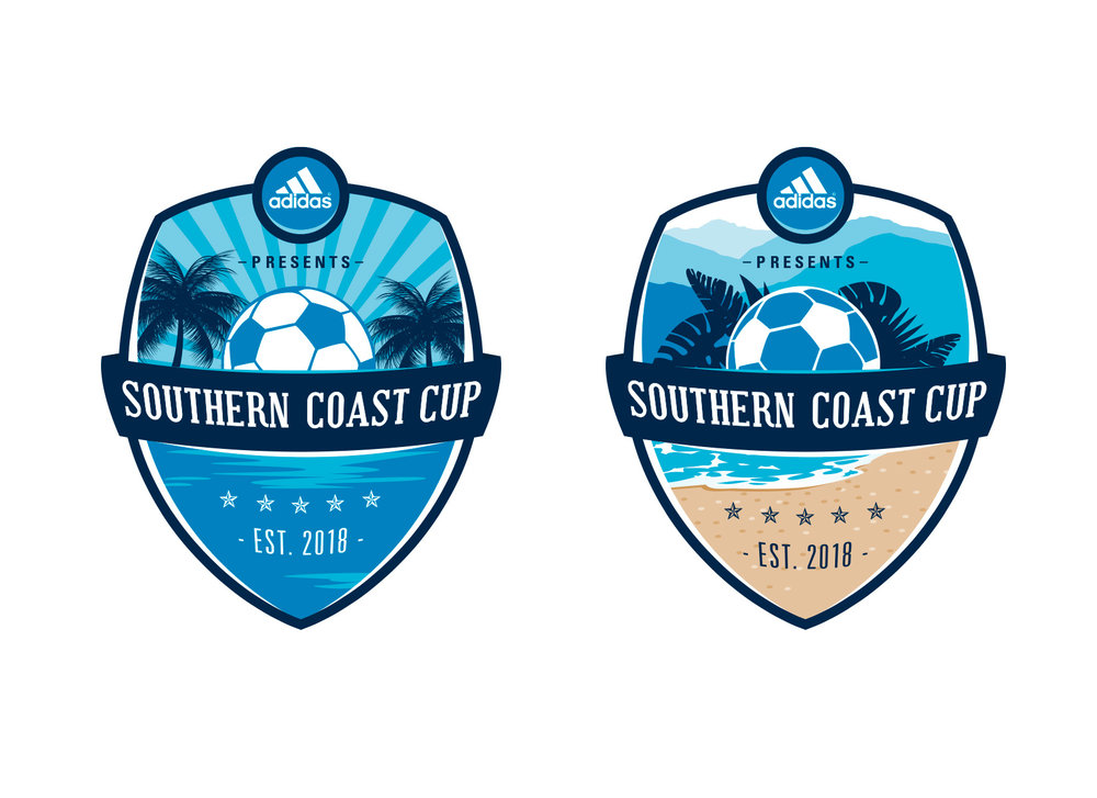 coastal soccer tournament logo design