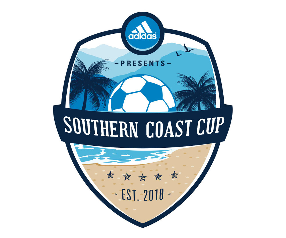 Southern Coast Soccer Tournament Logo Design