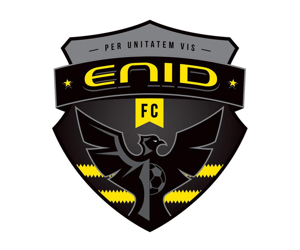 Enid FC sports logo design