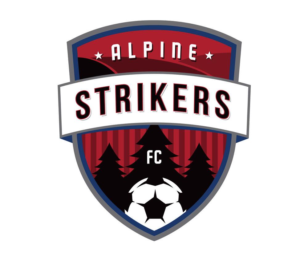 Alpine Strikers FC sports logo design