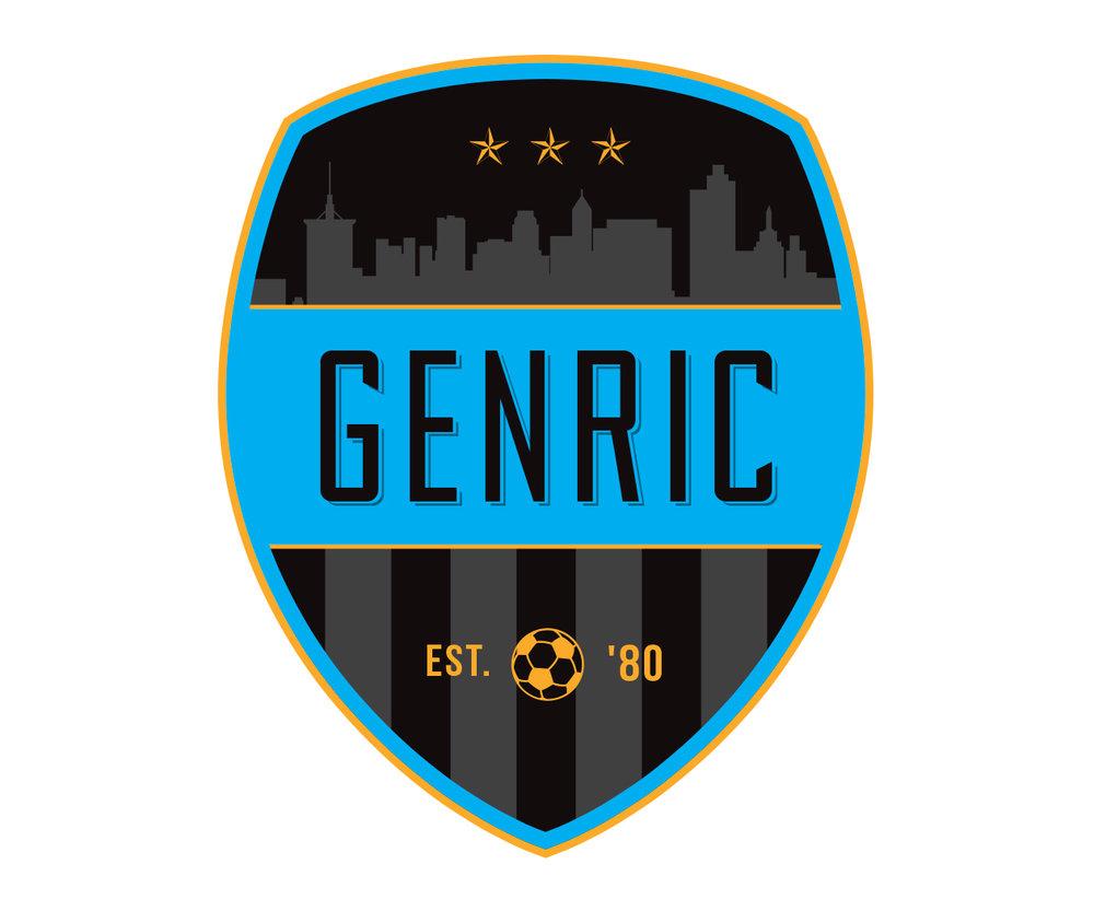 custom soccer logo design for the semi-pro team Aurora SC by jordan fretz design
