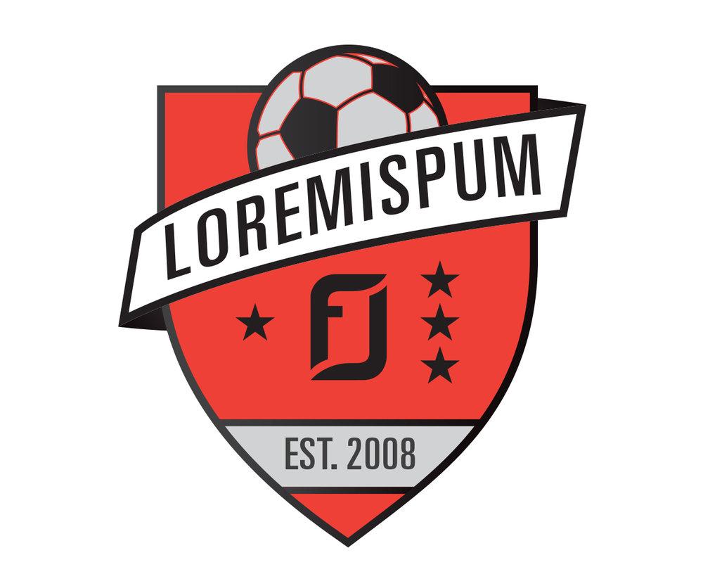 custom soccer logo design for gp soccer by jordan fretz design