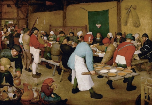 Pieter Bruegel the Elder.  The Peasant Wedding . Oil on panel. 1567.  Kunsthistorisches Museum, Vienna.