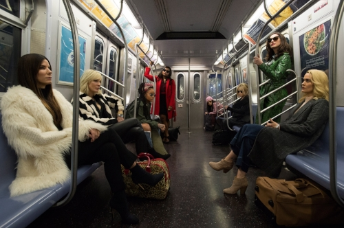 Photo from  Ocean's 8 official website . These are actors, in a fictional story. You should not steal diamond jewelry to pay for college.