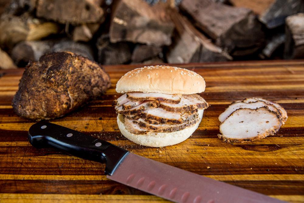 SANDWICHES - $7, pulled pork or turkey w/slaw