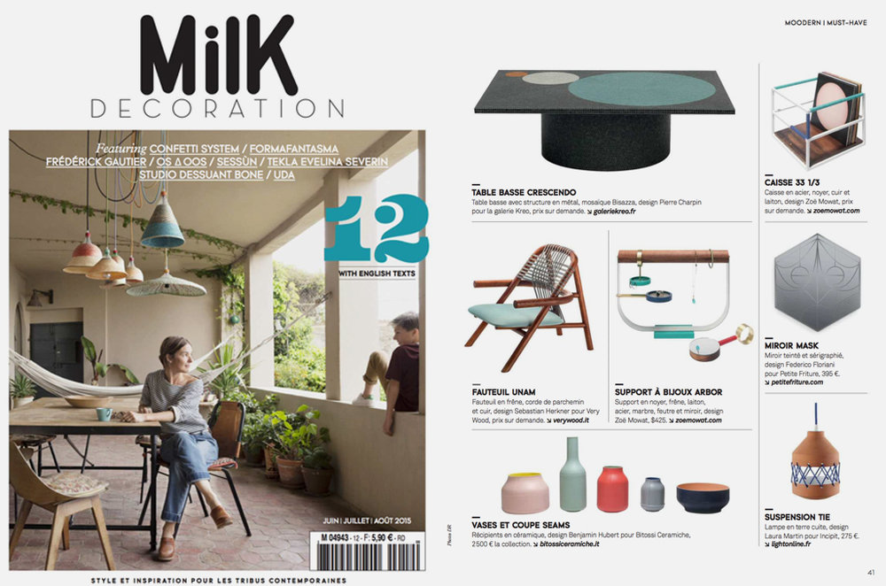 MILK DECORATION, SUMMER 2015