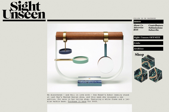 SIGHT UNSEEN, JANUARY 2014