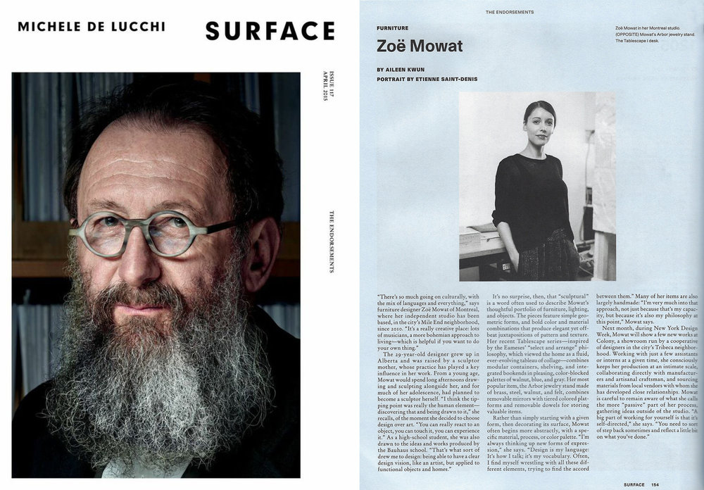 S   URFACE MAGAZINE — ENDORSEMENT AWARDS 2015