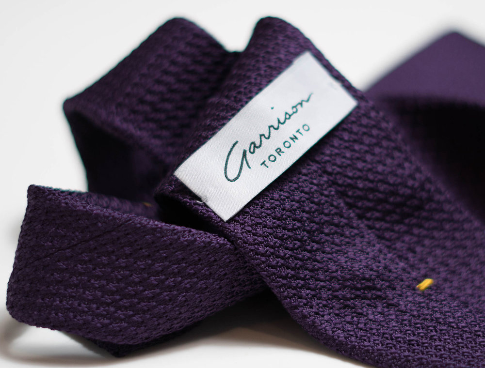 Grenadine Garza Grossa in Dark Purple - $85.00