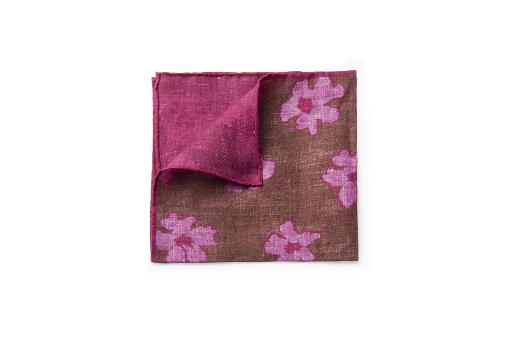 Shibui Flora / Pink Melange - 100% Lightweight Linen. $55