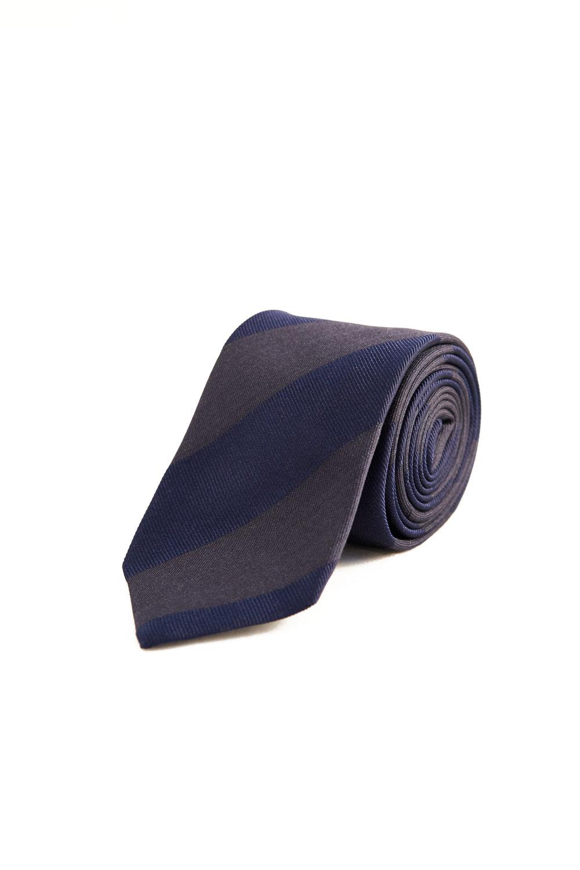 Garrison Essentials Repp Stripe Tie in Navy - $55