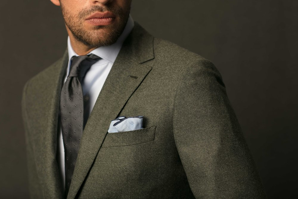 Garrison Essentials Tonal Dot Tie in Grey - $55