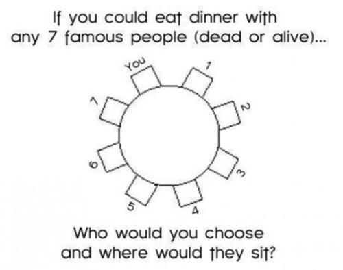 1) Jim Sturgess   2) Neil Patrick Harris   3) Jesse Tyler Ferguson   4) Matthew Gray Gubler   5) Neil Gaiman   6) Darren Criss   7) Jim Parsons     *semi-colon, close parenthesis* ;)