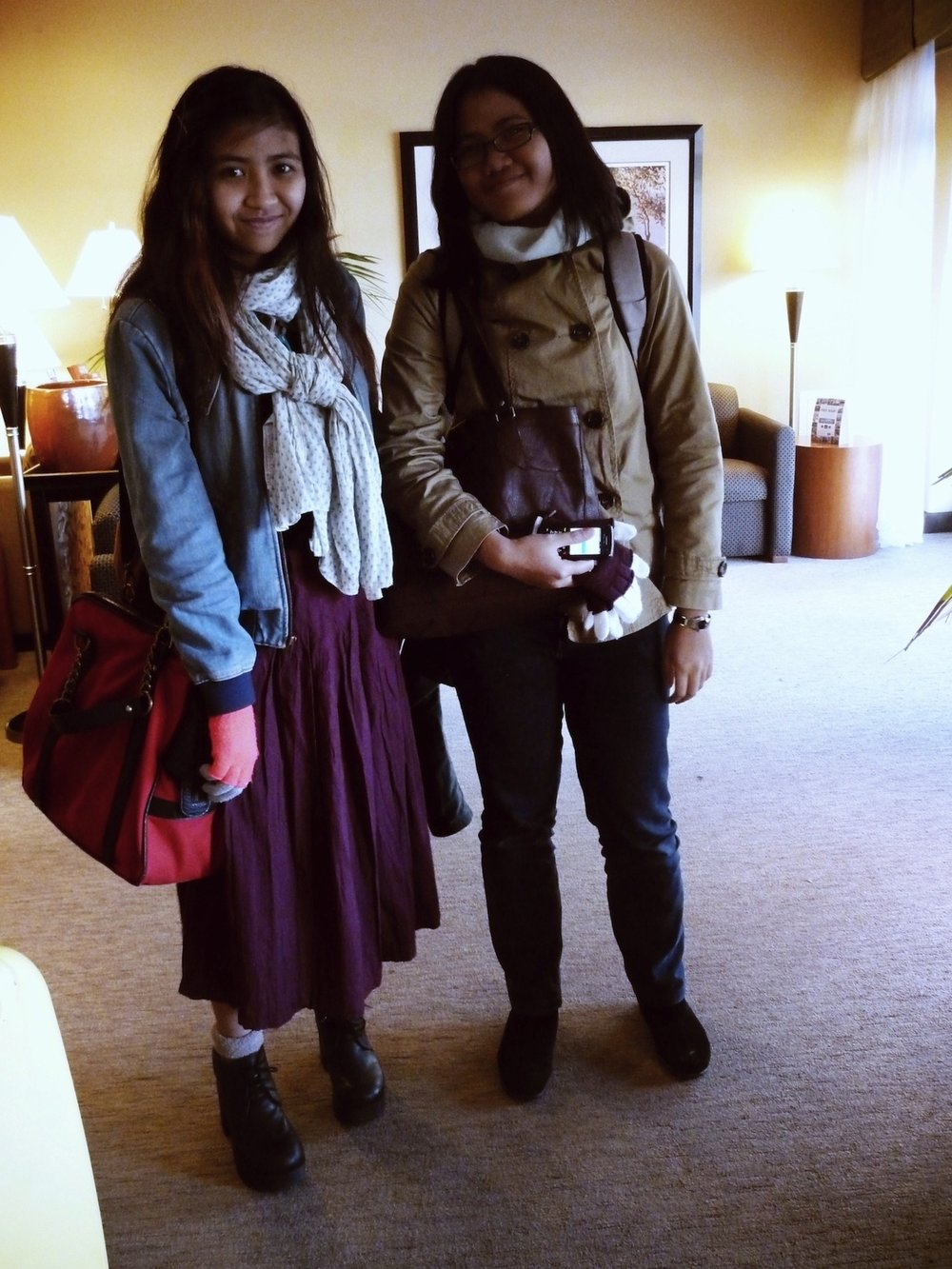 Me and my sister, Atinna Gunawan. March 3rd 2012 .
