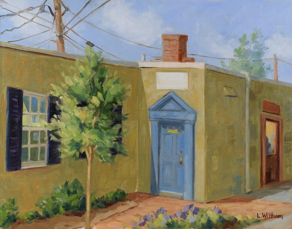 The Blue Door (2016, plein air)