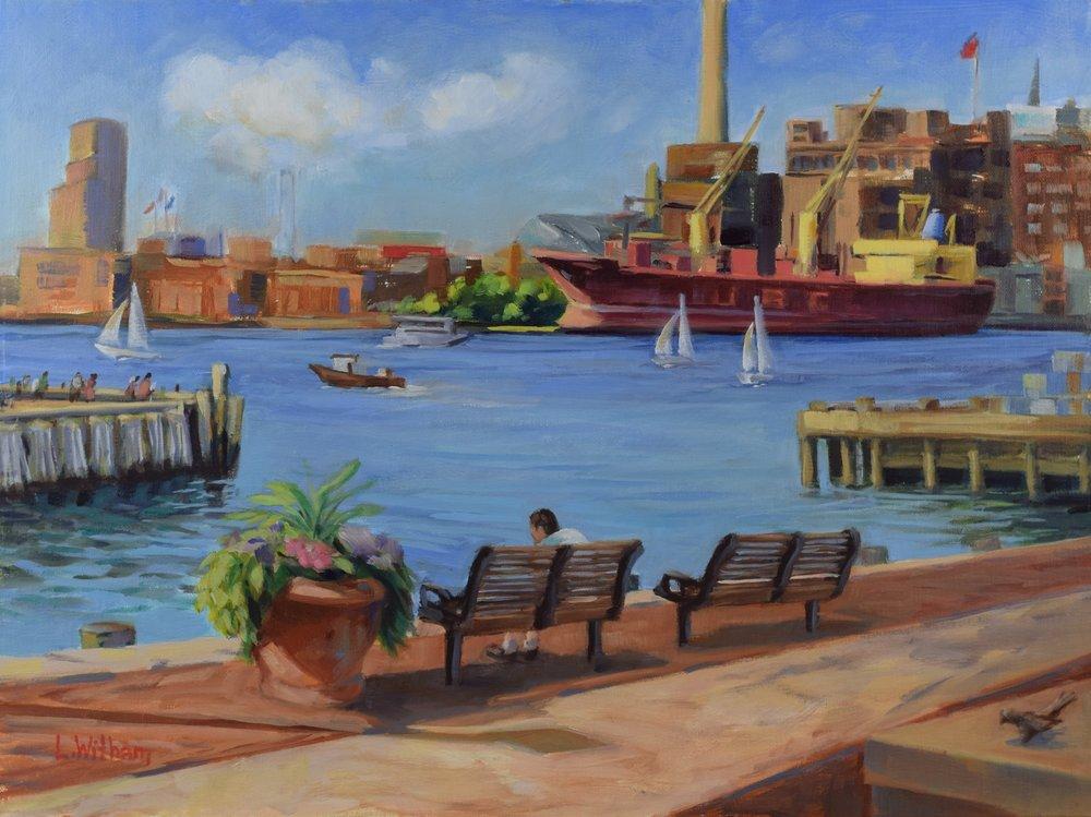 Baltimore Harbor (2016, plein air)