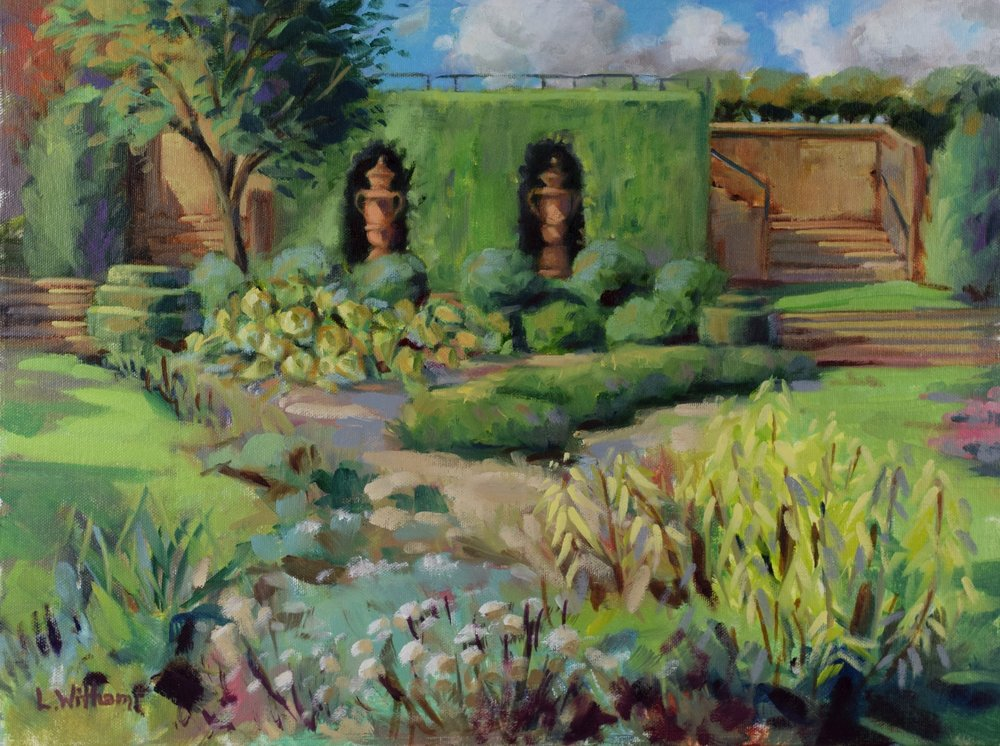 Topiary Garden (2016, plein air)