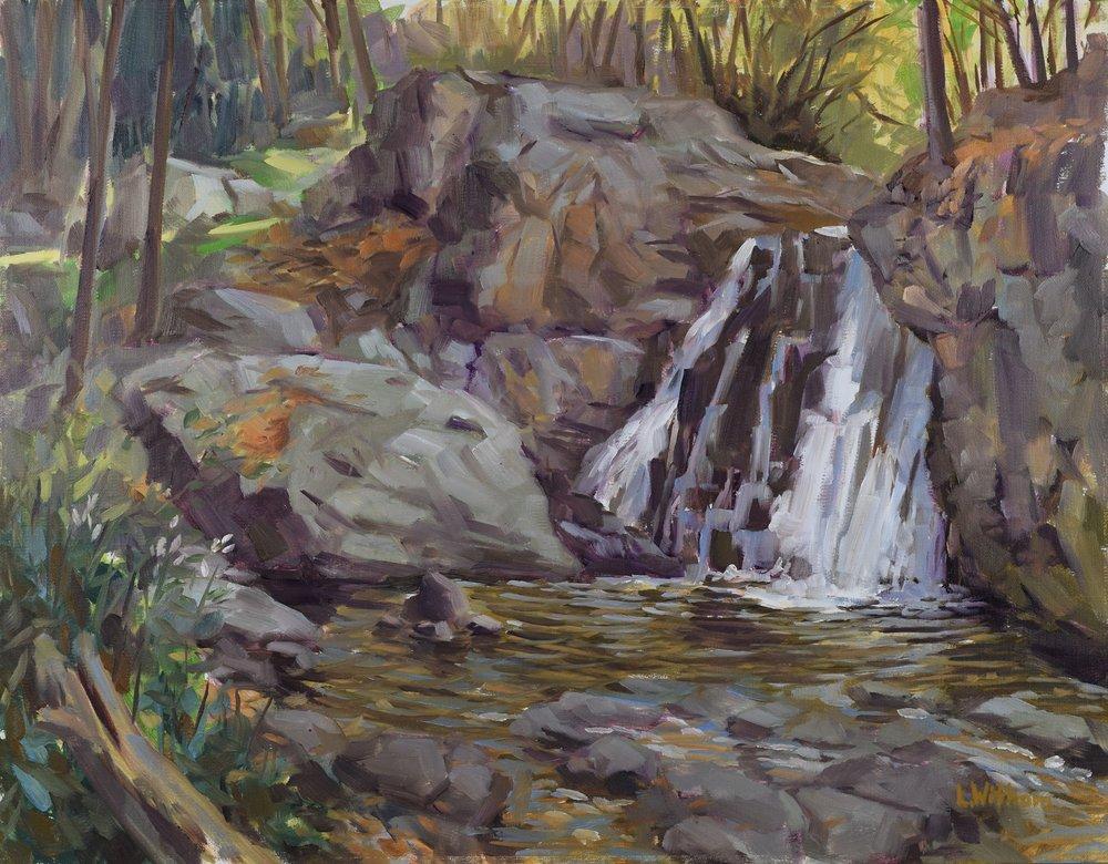 Kilgore Falls Morning (2016, plein air)