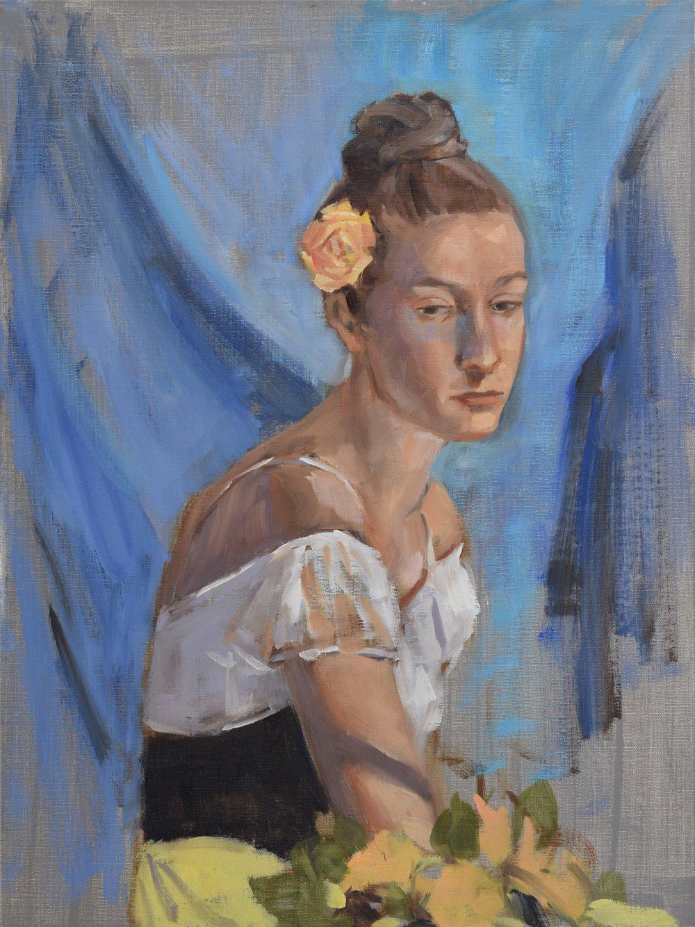 Woman on Blue (2017)